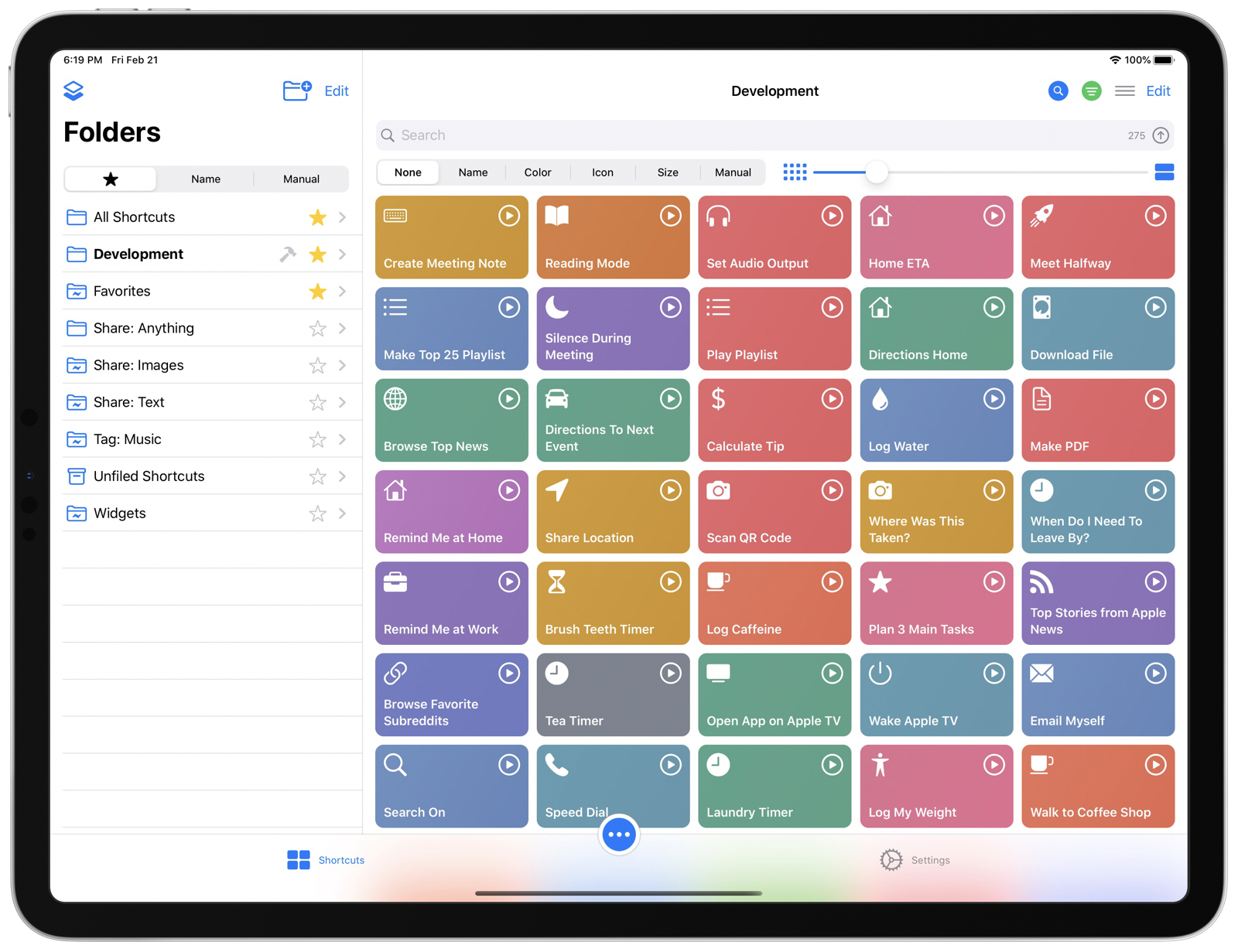 LaunchCuts Home on iPadOS