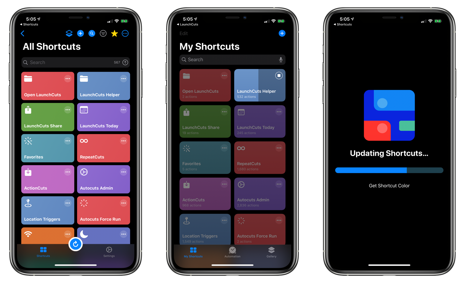 Updating Shortcuts in LaunchCuts 1.1